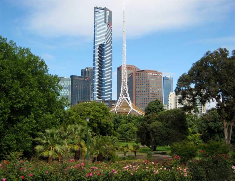 Photo taken from the adjoining Kings Domain  - Royal Botanic Gardens Melbourne
