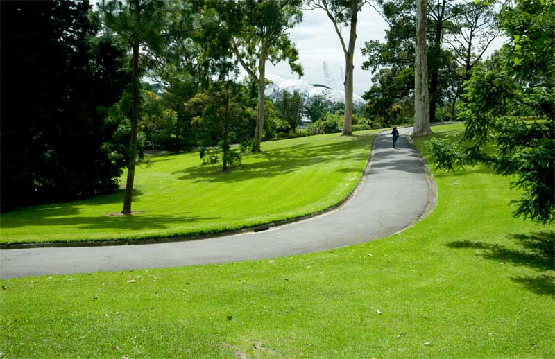Mature gardens, broad avenues, sweeping lawns, all immaculately preened. Royal Botanic Gardens Melbourne