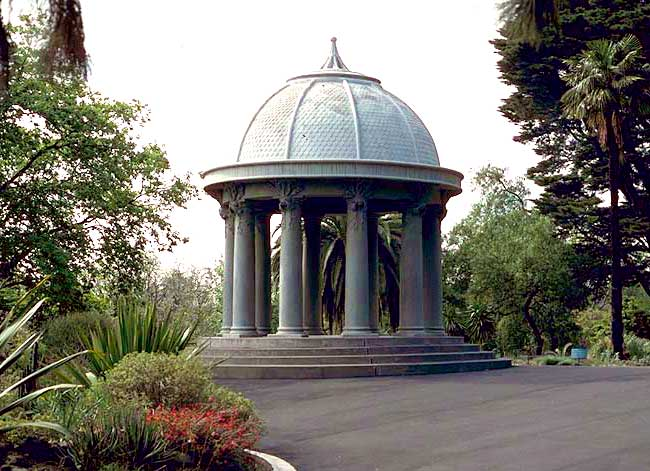 The famous Temple of the Winds, built in 1901. - Royal Botanic Gardens Melbourne