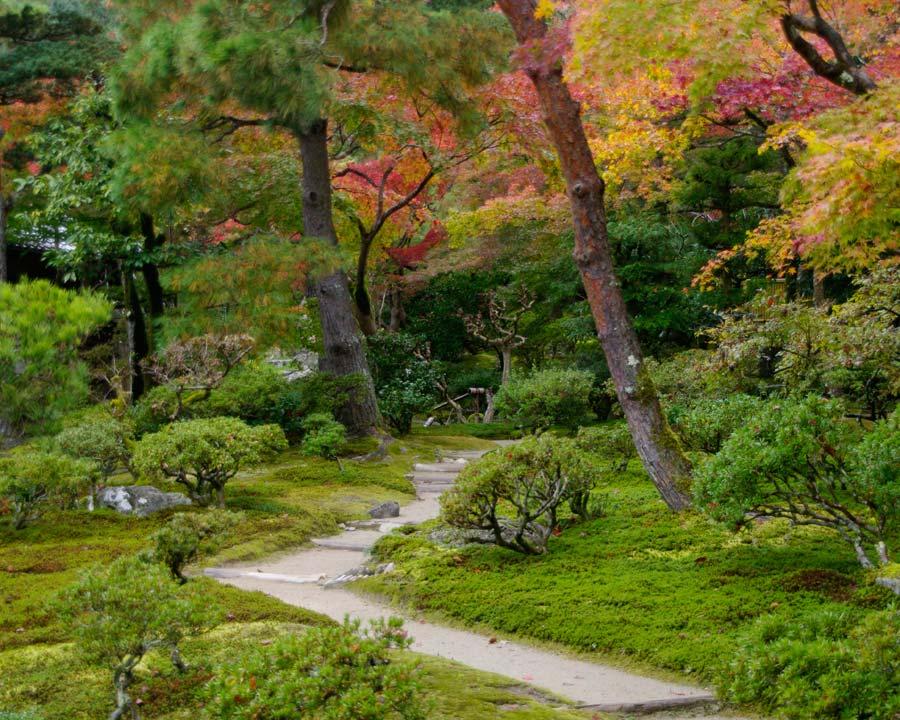 Gingkakuji - the Silver Pavillion and Gardens, Kyoto.