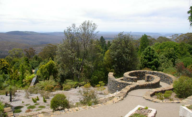 Final view from the Visitors Centre before you leave - Blue Mountains Botanic Garden Mount Tomah