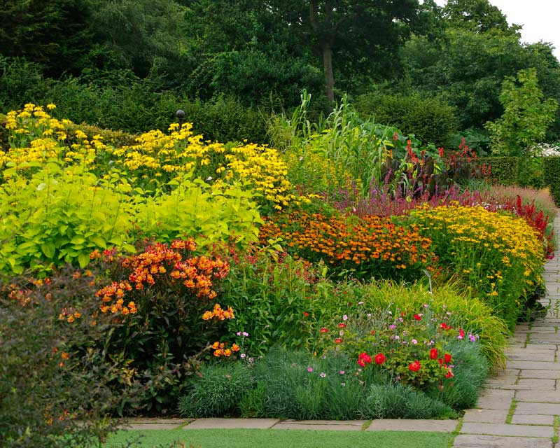 Mixed borders at Wisley