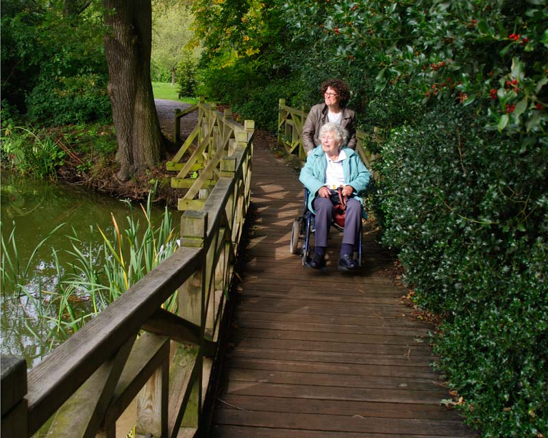 Plenty of wheelchair accessible paths at Wisley