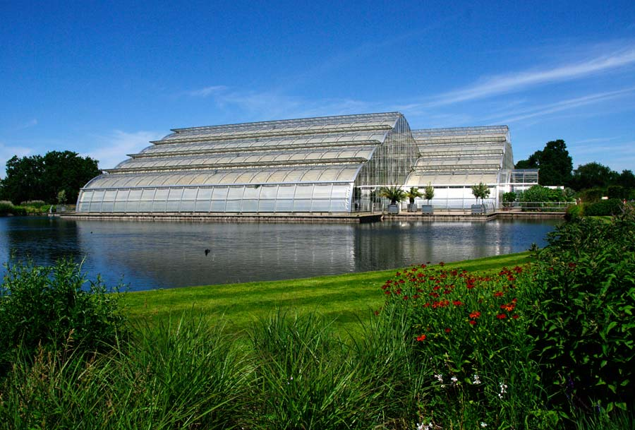 The huge, cathedral-like glasshouse at Wisley.