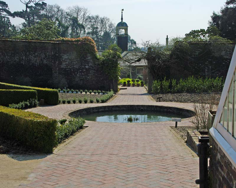 The Flower Garden, Lost Gardens of Heligan,  looking through to the main house