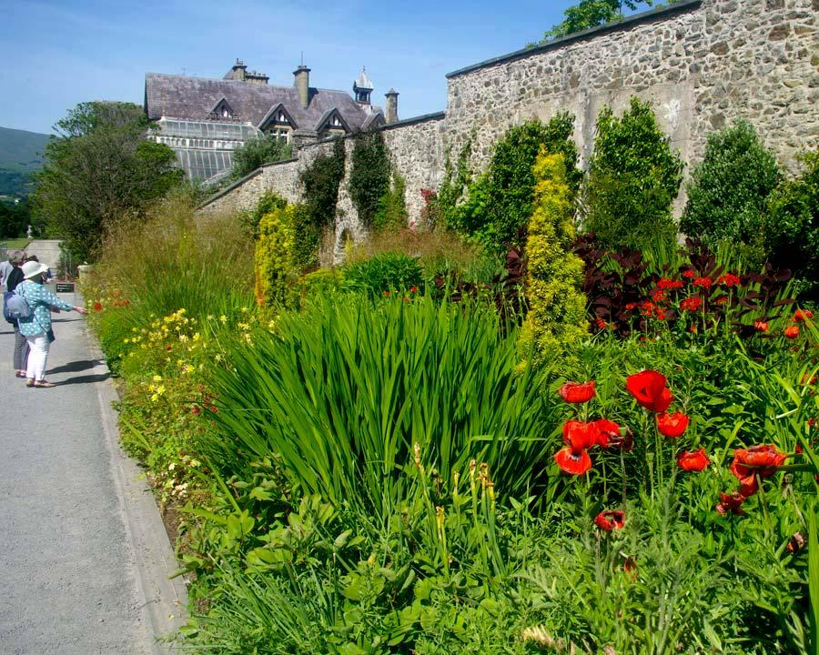 Bodnant Gardens, Conwy, North Wales - East Garden Summer Border
