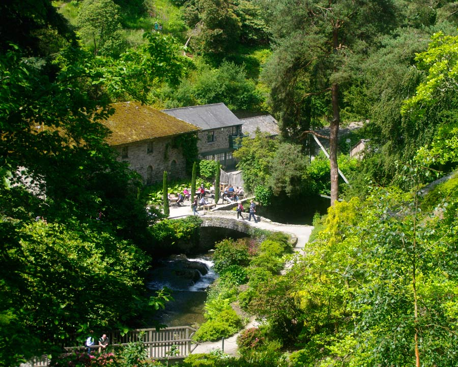 Bodnant Gardens, Conwy, North Wales - Old Mill and cafe