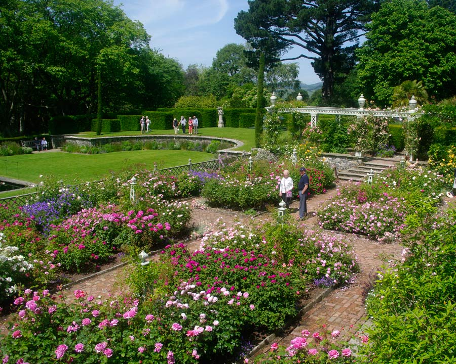 Bodnant Gardens, Conwy, North Wales - The Rose Garden