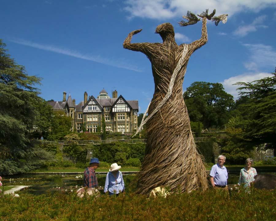 Bodant Gardens, Wicker Statue