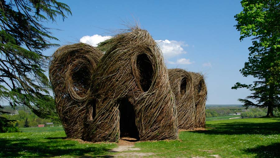 Sculpture by Patrick Dougherty  - Chaumont sur Loire