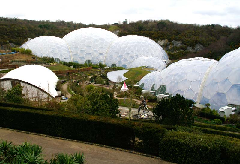 The biomes look as if freshly landed from space. Eden Project