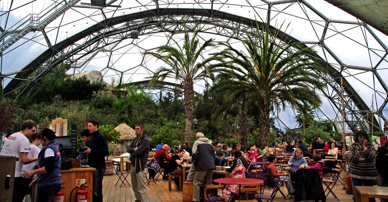 Cafe in Mediterranean Biome - Eden Project